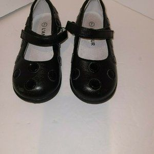 L'Amour Girls Black Dotted 7
